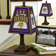 Minnesota Vikings NFL Hand-Painted Art Glass Table Lamp