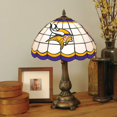Minnesota Vikings NFL Stained Glass Table Lamp