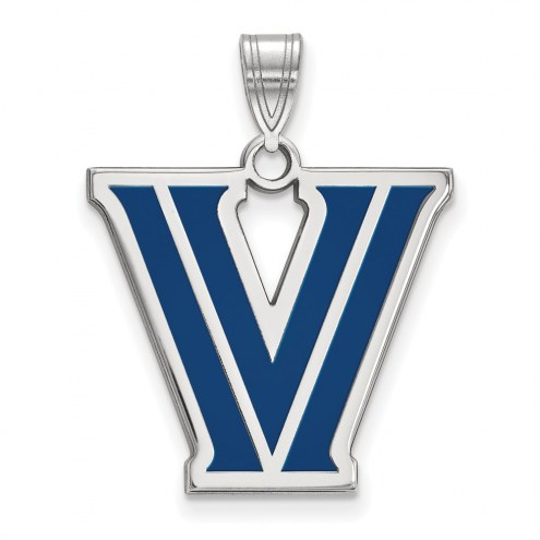 Villanova Wildcats Sterling Silver Large Enameled Pendant