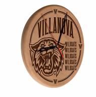Villanova Wildcats Laser Engraved Wood Clock