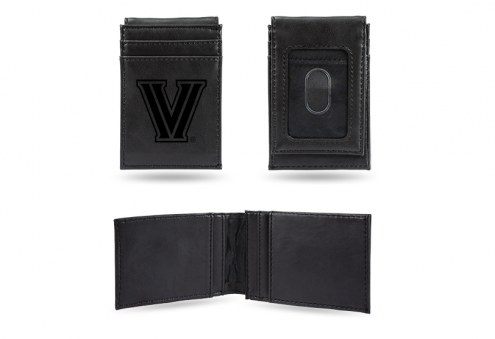 Villanova Wildcats Laser Engraved Black Front Pocket Wallet