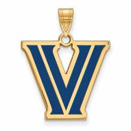 Villanova Wildcats NCAA Sterling Silver Gold Plated Large Enameled Pendant