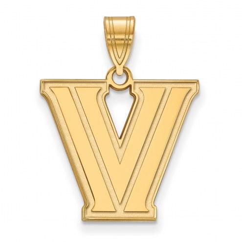 Villanova Wildcats NCAA Sterling Silver Gold Plated Medium Pendant