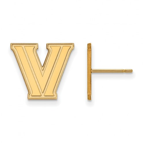 Villanova Wildcats NCAA Sterling Silver Gold Plated Small Post Earrings