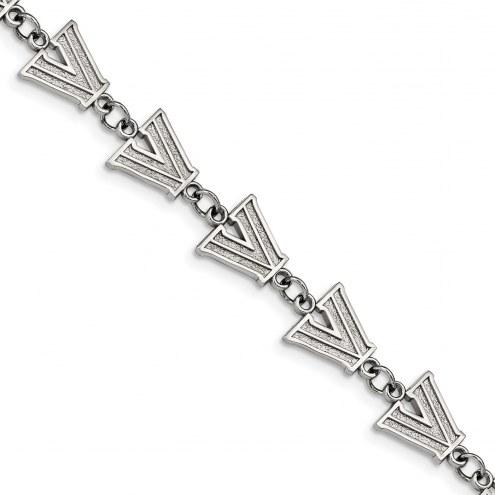 Villanova Wildcats Stainless Steel Logo Bracelet
