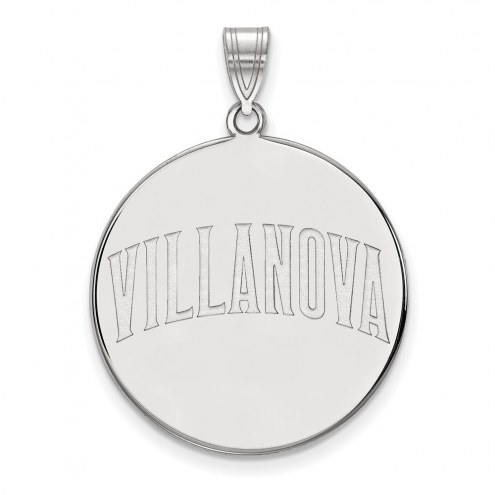 Villanova Wildcats Sterling Silver Extra Large Disc Pendant