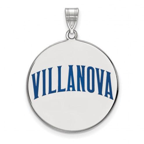 Villanova Wildcats Sterling Silver Extra Large Enameled Disc Pendant