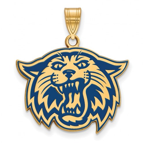 Villanova Wildcats Sterling Silver Gold Plated Large Enameled Pendant