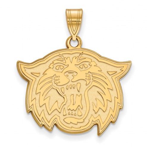 Villanova Wildcats Sterling Silver Gold Plated Large Pendant