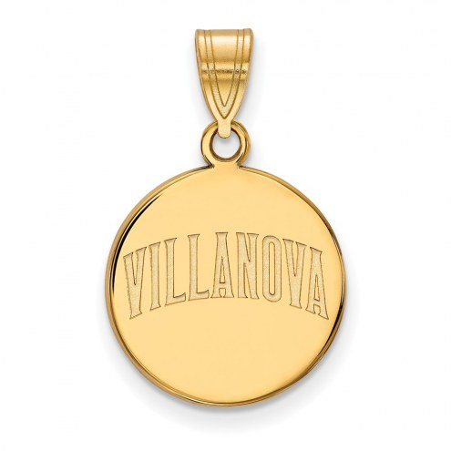 Villanova Wildcats Sterling Silver Gold Plated Medium Disc Pendant