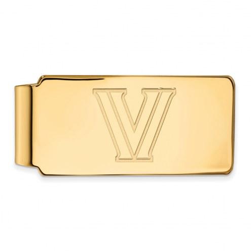 Villanova Wildcats Sterling Silver Gold Plated Money Clip