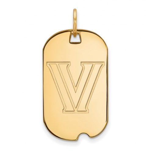 Villanova Wildcats Sterling Silver Gold Plated Small Dog Tag