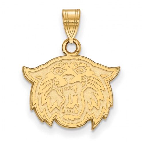 Villanova Wildcats Sterling Silver Gold Plated Small Pendant