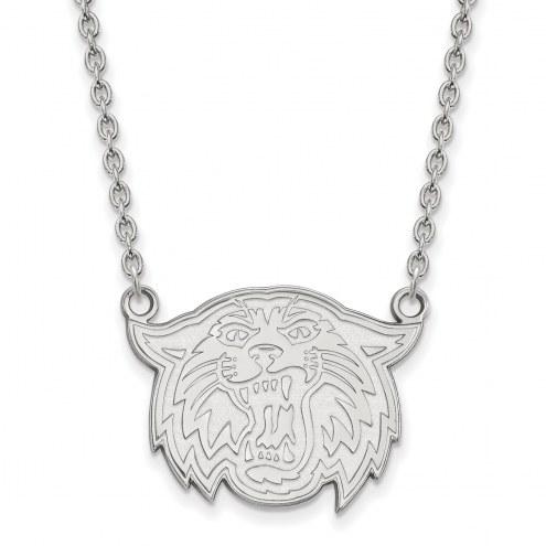 Villanova Wildcats Sterling Silver Large Pendant Necklace