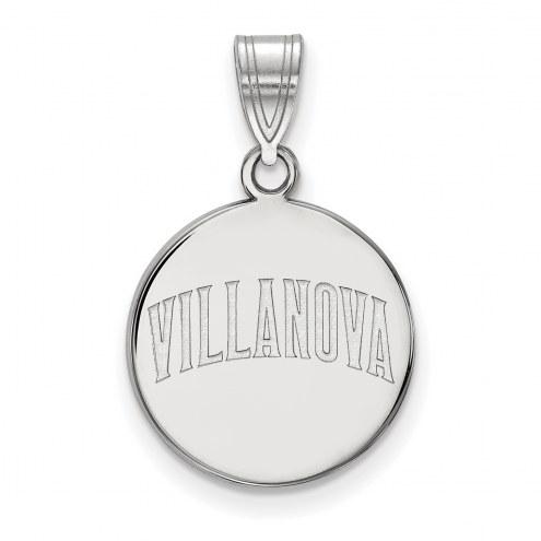Villanova Wildcats Sterling Silver Medium Disc Pendant