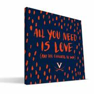 "Virginia Cavaliers 12"" x 12"" All You Need Canvas Print"