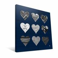 "Virginia Cavaliers 12"" x 12"" Hearts Canvas Print"