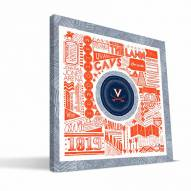 "Virginia Cavaliers 16"" x 16"" Pictograph Canvas Print"