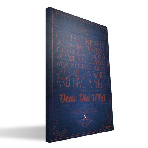 "Virginia Cavaliers 16"" x 24"" Song Canvas Print"