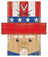 """Virginia Cavaliers 19"""" x 16"""" Patriotic Head"""