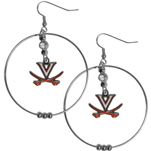 "Virginia Cavaliers 2"" Hoop Earrings"
