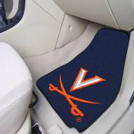 Virginia Cavaliers 2-Piece Carpet Car Mats