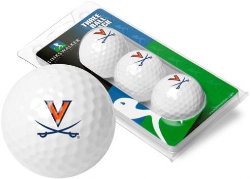 Virginia Cavaliers 3 Golf Ball Sleeve