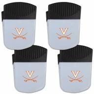 Virginia Cavaliers 4 Pack Chip Clip Magnet with Bottle Opener