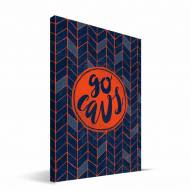 "Virginia Cavaliers 8"" x 12"" Geometric Canvas Print"