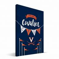 "Virginia Cavaliers 8"" x 12"" Little Man Canvas Print"