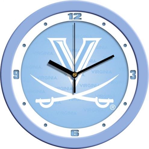 Virginia Cavaliers Baby Blue Wall Clock