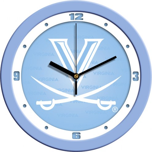 Virginia Cavaliers Baby Blue Wall Clock