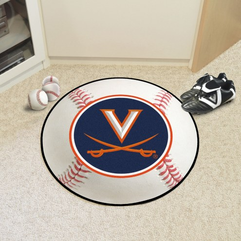 Virginia Cavaliers Baseball Rug