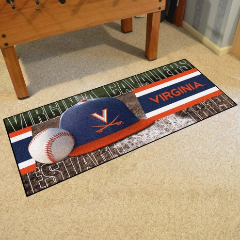 Virginia Cavaliers Baseball Runner Rug