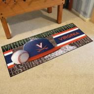 Virginia Cavaliers Baseball Runner Rug