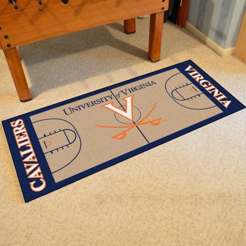 Virginia Cavaliers Basketball Court Runner Rug