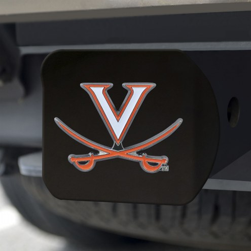 Virginia Cavaliers Black Color Hitch Cover