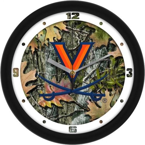 Virginia Cavaliers Camo Wall Clock
