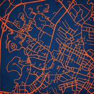 Virginia Cavaliers Campus Map Print