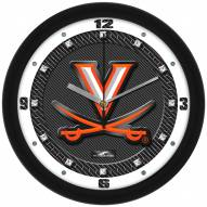 Virginia Cavaliers Carbon Fiber Wall Clock