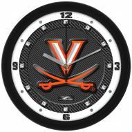 Virginia Cavaliers Carbon Fiber Wall Clock