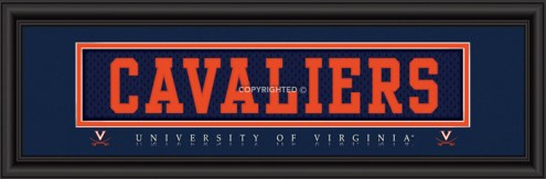 "Virginia Cavaliers ""Cavaliers"" Stitched Jersey Framed Print"