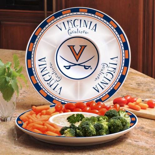 Virginia Cavaliers Ceramic Chip and Dip Serving Dish