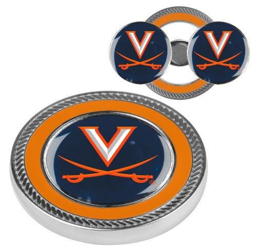 Virginia Cavaliers Challenge Coin with 2 Ball Markers