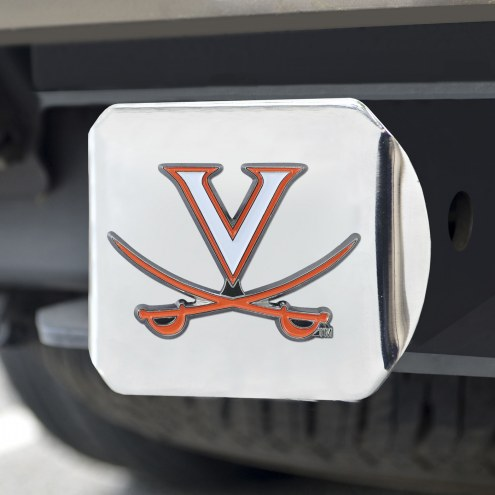 Virginia Cavaliers Chrome Color Hitch Cover