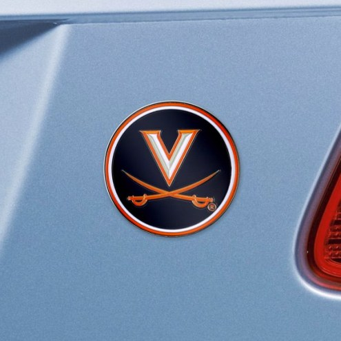Virginia Cavaliers Color Car Emblem