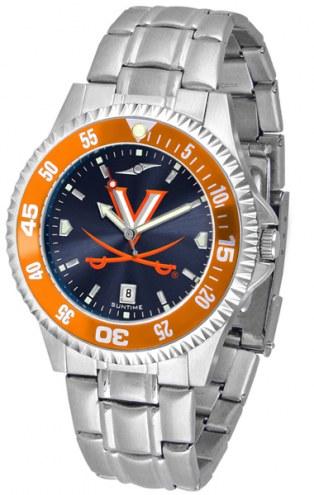 Virginia Cavaliers Competitor Steel AnoChrome Color Bezel Men's Watch