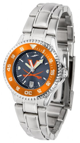 Virginia Cavaliers Competitor Steel AnoChrome Women's Watch - Color Bezel
