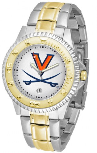 Virginia Cavaliers Competitor Two-Tone Men's Watch