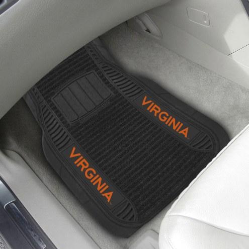 Virginia Cavaliers Deluxe Car Floor Mat Set
